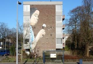 Muurschildering Kanaleneiland