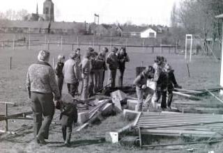 Een van oude foto's van de wijk