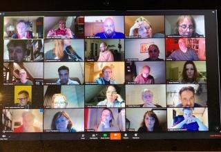 Schermafbeelding van digitale meeting opbouwwerkers