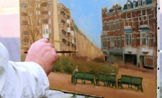 De Weimarstraat geschilderd